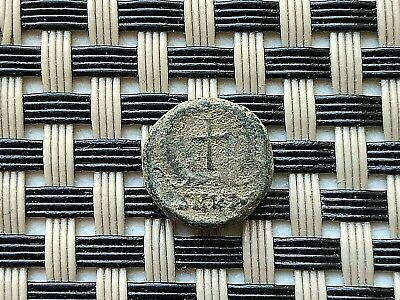 Theodosius Ii 408-450 Ad Ae4 Cross In Wreath Cyzicus Mint Ancient Roman Coin