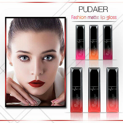 21 Color PUDAIER Long Lasting Waterproof Matte Lipstick Liquid Gloss Cosmetic