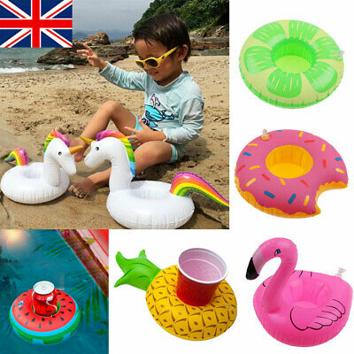 Inflatable Floating Drink Can Cup Holder Hot Tub Swimming Pool Beach Party UK