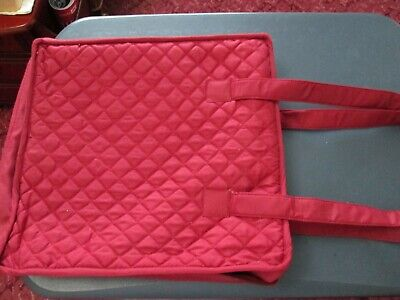 Wine Coloured Quilted Craft Organiser Tote Bag