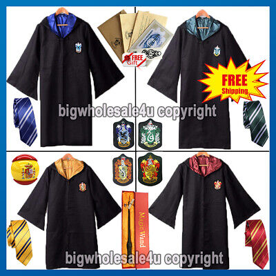 Harry Potter Gryffindor Halloween Carnaval Cloak Robe Capa Cosplay Traje Costume