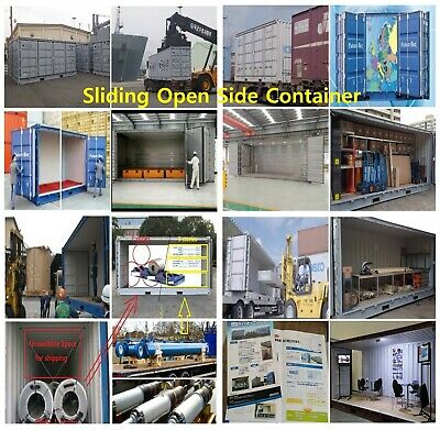 Side Open Shipping Container, Sliding Open Side Container Sliding Door Container