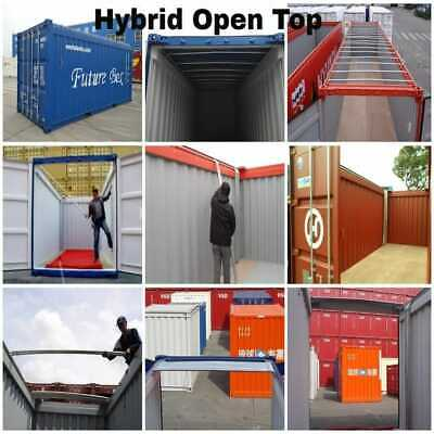 Open Top Shipping Container, Hybrid Open Top Container, ISO Container, Roof Bow