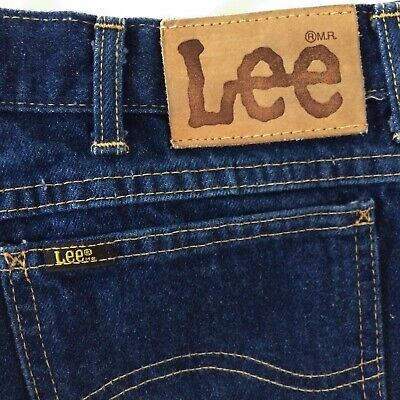 082865c6 Mens Vintage Lee Riders Jeans 36 x 31 USA 202-0347 Union Made Leather Label