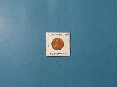 1977 s 1C GEM RED Proof Lincoln Cent