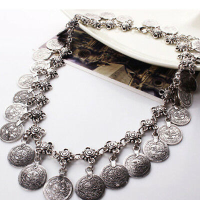 Chic Gift Ethnic Gypsy Tribal Boho Coin Statement Necklace Pendant Retro Deocr