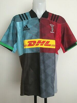 Harlequins Rugby 2018-19 S/s Home Jersey By Adidas Size Men's Xl Brand New