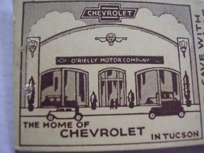 Orielly Chevrolet Tucson >> 1940 S O Rielly The Home Of Chevrolet In Tucson Arizona