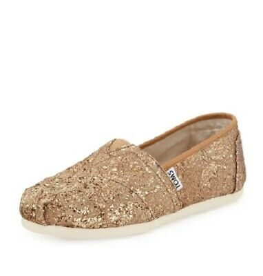b4a827e8b6c Toms Classic Slip On Shoes Womens Rose Gold Glitz Womens Shoes Choose Your  Size