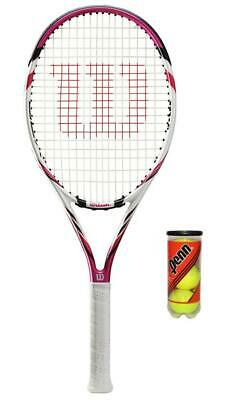 Wilson Six Two BLX Pink Tennis Racket + 3 Tennis Balls RRP £120