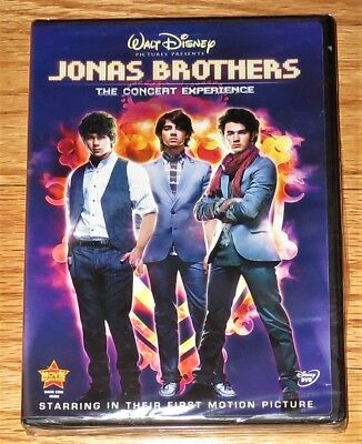 Walt Disney Jonas Brothers The Concert Experience (DVD, 2009) Kevin Nick Joe NEW