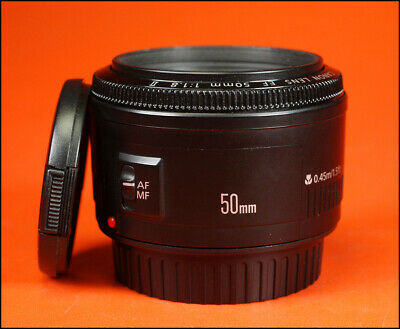 Canon EF 50mm F1.8 II Autofocus Prime Lens for EOS SLRs With  Front & Rear Cap