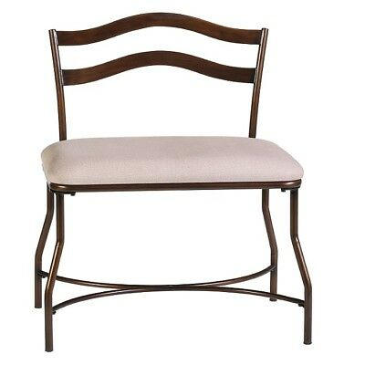 Peachy Bedroom Vanity Bench Extra Wide Chair Beige Bronze Finish Gmtry Best Dining Table And Chair Ideas Images Gmtryco