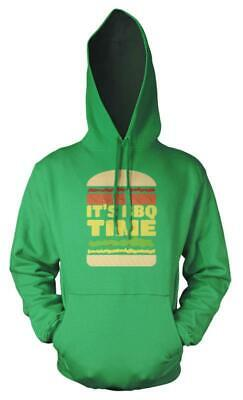 Burger Its BBQ Time Adult Hoodie