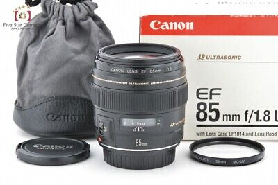 Excellent-!! Canon EF 85mm f/1.8 USM w/ Box from Japan