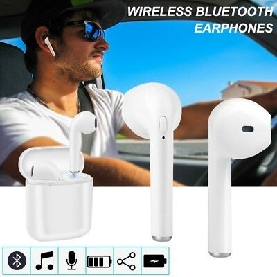 Dual Wireless Bluetooth Earphone Earbuds for Apple  iPhone 7 8 PLUS IOS Android