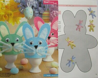 2 x Easter Bunny Sewing Patterns