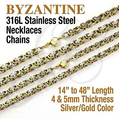 """22/"""" Men Women stainless steel Silver 4 mm Anchor Flat Mariner Necklace Chain 09"""