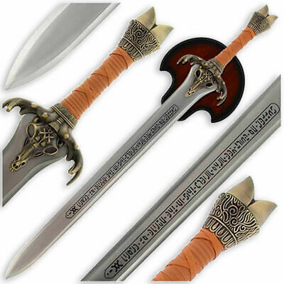 """39"""" Conan the Barbarian Medieval Viking Father Sword with Display Plaque"""