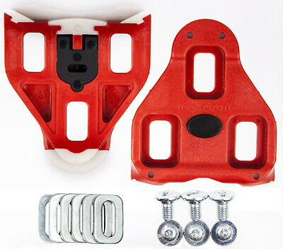 New VP Clipless ARC 1 Red Cleats fits Look Delta Road Bike Pedal 9 degree Float