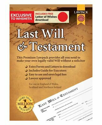 LawPack Premium Last Will & Testament Kit With Extra Forms And Letters