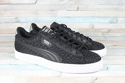 new arrival b864f e35ee Puma 365915 03 Basket Satin EP Black White Women s Shoes 6.5 US