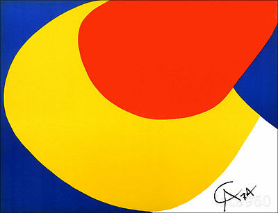 Alexander CALDER Convection Braniff Airlines Original 1974 Lithograph