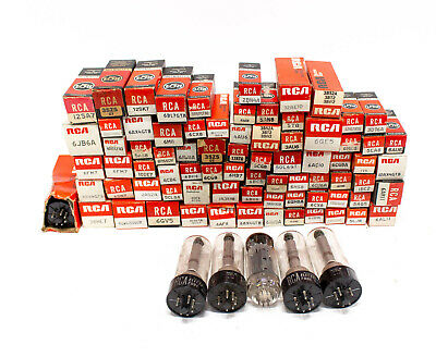 Huge Lot of Over 80 RCA NOS Vintage Radio Vacuum Tubes