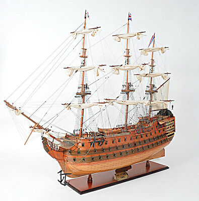 "XL HMS Victory Lord Nelson's Flagship 58"" Tall Ship Model Wooden Fully Assembled"