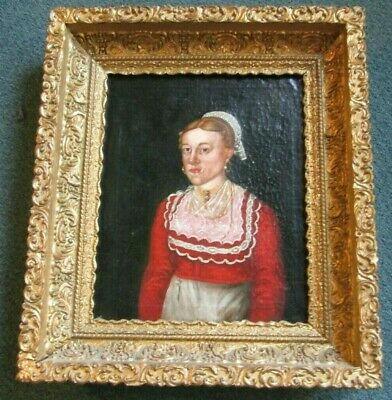 17th or 18th c. Antique Flemish Portrait Painting From A Ridgewood NJ Estate