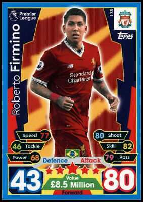Roberto Firmino - Liverpool #178 Match Attax 2017/18 Topps Trading Card (C2622)