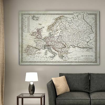 Vintage Map Europe I - Premium Gallery Wrapped Canvas