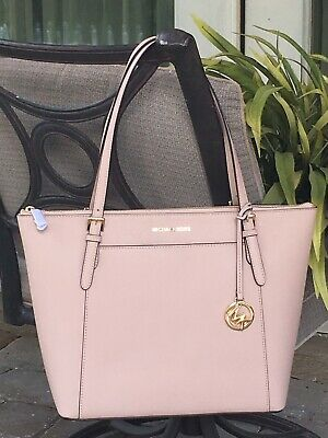 49378b867d00a1 Michael Kors Ciara Large East West Zip Tote Bag Ballet Pink Leather $398