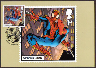 GB 2019 Royal Mail Marvel stamp PHQ cards x 15 First Day of Issue cancel front
