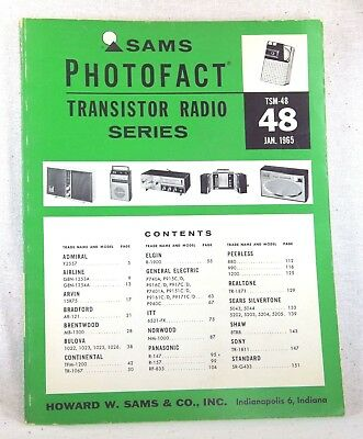 SAMS Transistor Radio Series TSM-48 JANUARY 1965 SERVICE MANUAL SOFTBOUND BOOK