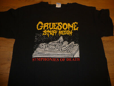 GRUESOME STUFF RELISH - Symphonies Of Death T-Shirt L sehr guter Zustand