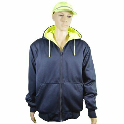 Petra Roc LNRVDWZHSW-C3- Double Weight Reversible ANSI Class 3 Zip-Up Hooded XL