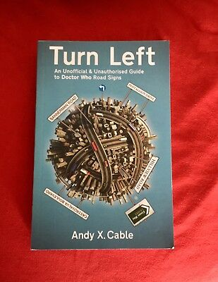 Turn Left By Andy X. Cable, Doctor Who Road Signs, 1st Edition Paperback, OOP