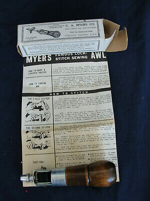 New C. A. Myers Co. Lock Stitch Sewing Awl