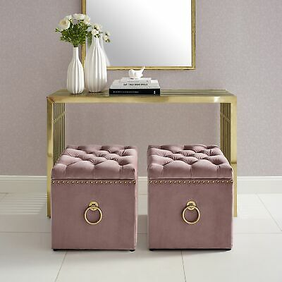 Incredible Velvet Or Linen Ottoman Bench Storage Cube Coffee Table Caraccident5 Cool Chair Designs And Ideas Caraccident5Info
