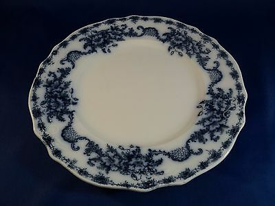 Antique Alfred Meakin FLOW BLUE Mentone Pattern Plate