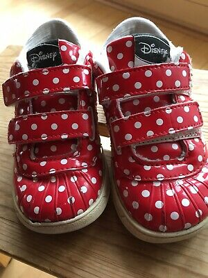 ADIDAS DISNEY MINNIE Mouse Maus Mädchen Schuhe 25 Rot Lack Polka Dots Sneakers