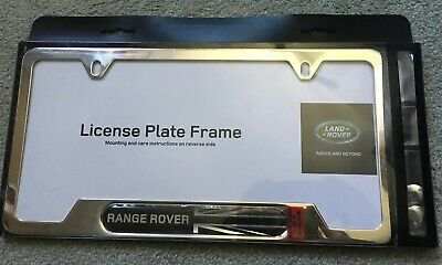 OEM RANGE ROVER LR4 Evoque Polished Chrome Union Jack License Plate Frame  Land