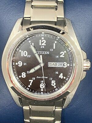c83a87a49 Citizen GN-4-S Eco Drive Men's Watch Stainless Steel Silver Bracelet Date  A83