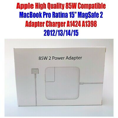 "For Apple 85W Macbook Pro Retina 15"" MagSafe 2 Adapter Charger A1424 2012-15"