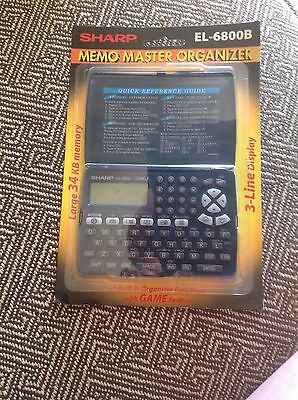 Sharp Electronic Organizer Memo Master EL-6800B New Open Pack w/ Game feature