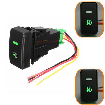 5Pin LED ON/OFF Push Button Fog Light Switch &Wire for Honda Civic Accord CRV