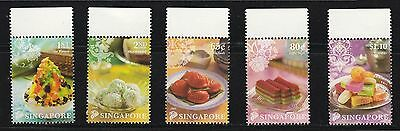 Singapore 2009 Local Desserts Comp. Set Of 5 Stamps In Mint Mnh Unused Condition