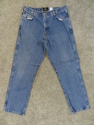 Bass Pro RED HEAD Mens Size 36X32 CLASSIC FIT 100% Cotton Denim BLUE JEANS