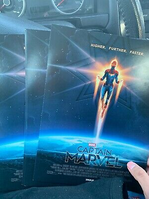"2 CAPTAIN MARVEL AMC IMAX 8.5"" X 11"" Poster  Photo MARVEL STUDIOS Brie Larson"